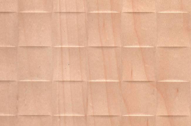 плита рельефная квадраты со шпоном клен