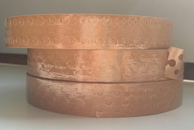 Клеевая лента, толщ. 20 мм, перфорированная